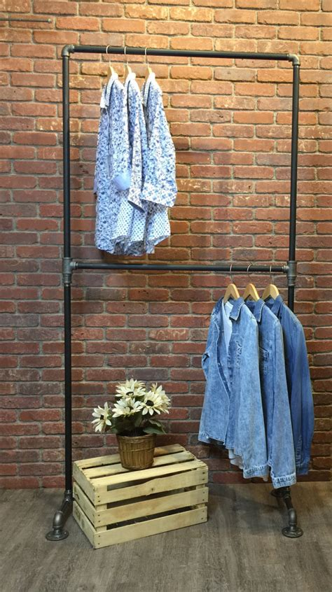 industrial style clothing rack row by