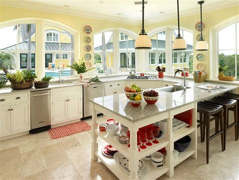 Wall Colors For Kitchens With White Cabinets 11 trendy ideas that bring gray and yellow to the kitchen