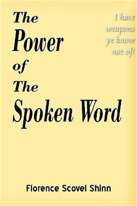 the power of words review unstoppable the the power of the spoken word by florence scovel shinn