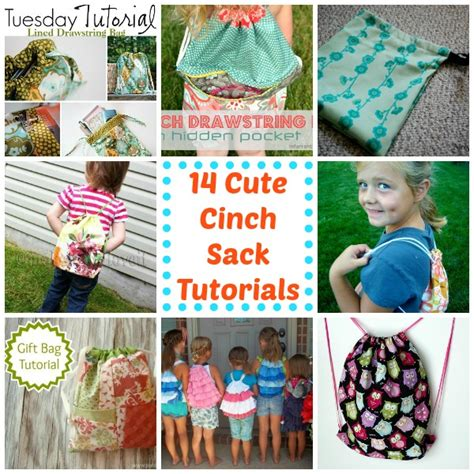 50 Bag Tutorials Patchwork Posse Easy Sewing Projects - cinch sack up