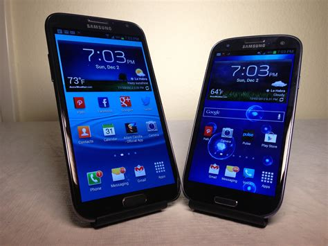 Samsung S3 Note Samsung Galaxy Note 2 Vs Samsung Galaxy S3 Review