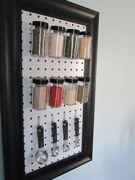 diy spice rack holder spice jars with black lids archives the honeycomb home