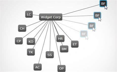 jquery network diagram network node