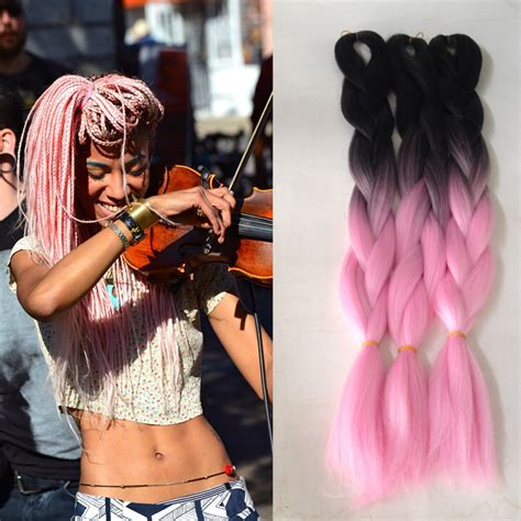 ombre marley hair purple 1pcs cheap 100g grey ombre kanekalon braiding hair two
