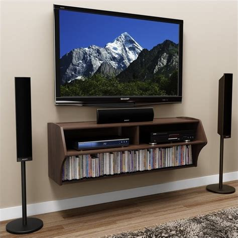 wall mounted home entertainment console in espresso ecaw