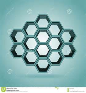3d hexagon template 3d hexagon pattern stock vector image 55003866
