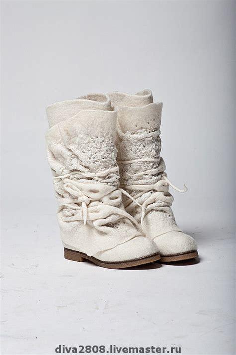 Winterhochzeit Schuhe by купить сапожки валяные Quot свадебные Quot авторская работа
