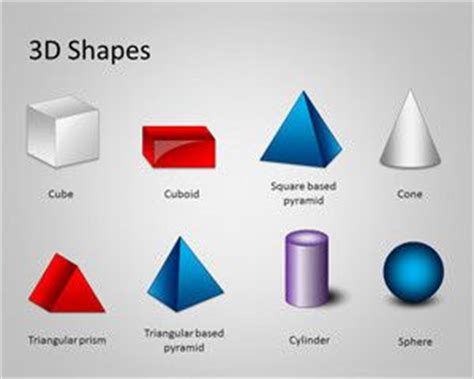 3d figuras geometricas y sus nombres free 3d shapes template for powerpoint free powerpoint
