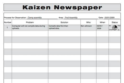 kaizen templates kaizen templates 28 images kaizen event guide kaizen