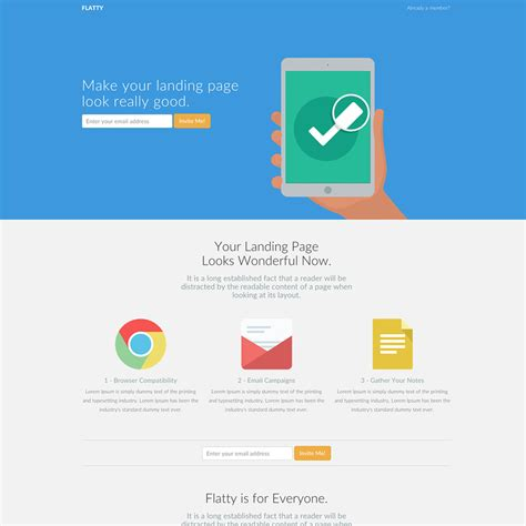 Flatty Free Responsive Bootstrap Website Template Bootstrap Responsive Website Templates Free