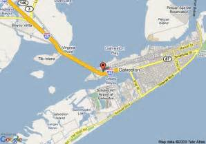 map of hotels in galveston