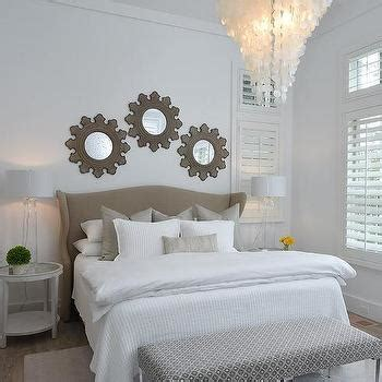 brown headboard transitional bedroom elsa soyars round bedside tables transitional bedroom elsa soyars