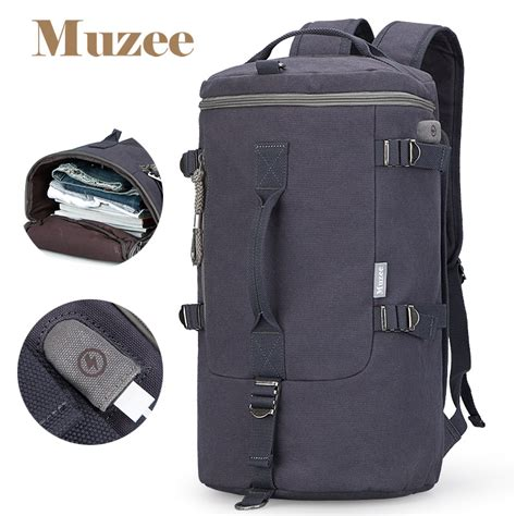 Tas Ransel Duffel Travel Dengan Usb Charger Port Black Blue muzee tas duffel travel 3 in 1 dengan usb charger port