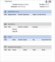 Free Travel Templates by Trip Itinerary Template 20 Free Word Excel Documents