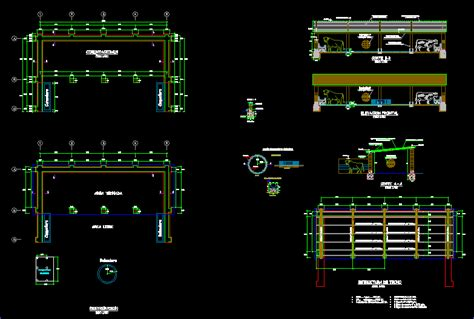 cattle shed dwg plan  autocad designs cad