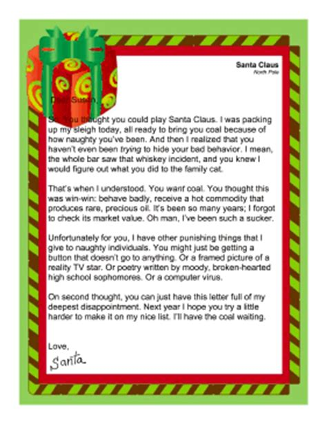 printable santa letters for adults santa letter naughty adult