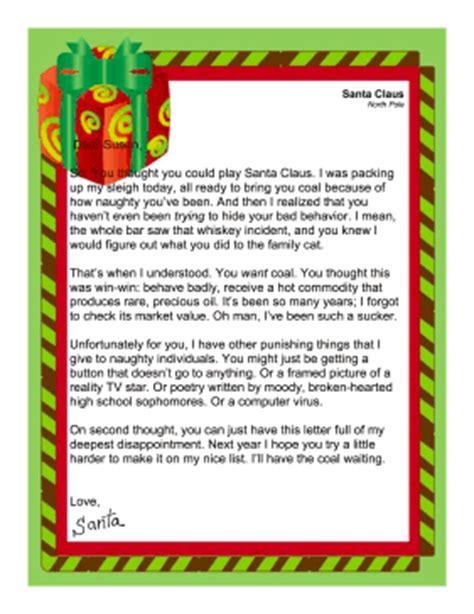 printable santa naughty letter santa letter naughty adult