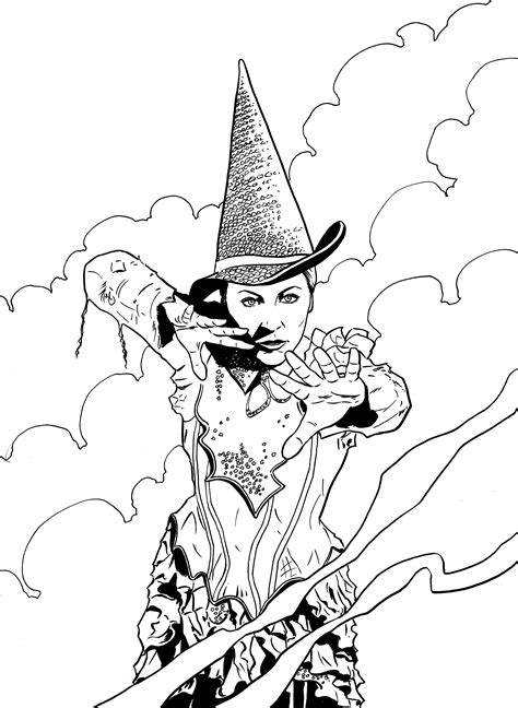 wicked witch oz coloring pages www imgkid com the