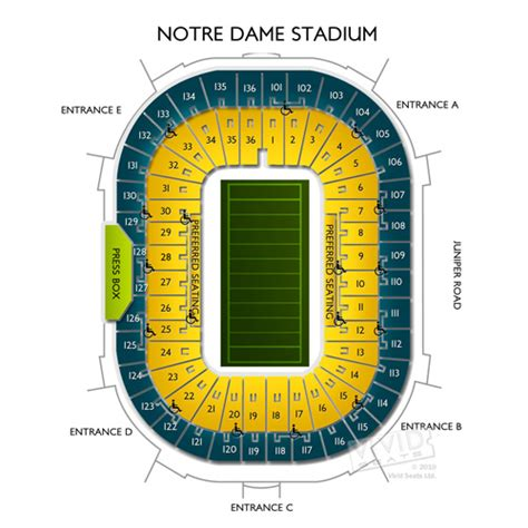 notre dame stadium visitor section image gallery notre dame stadium seating