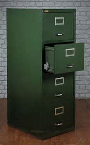 Antiques Atlas   Vintage Painted Steel Filing Cabinet C.1960.