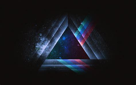 ac wallpaper triangle art blue rainbow illust graphic