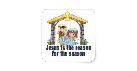 jesus is the reason for the season led christmas decorations jesus is the reason for the season square sticker zazzle