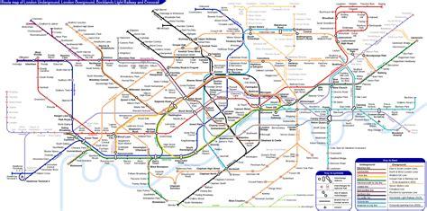 underground rail map overground map and guide