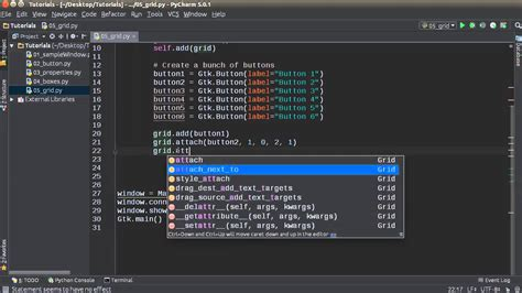 tutorial python interface python gui development with gtk 3 tutorial 5 grid