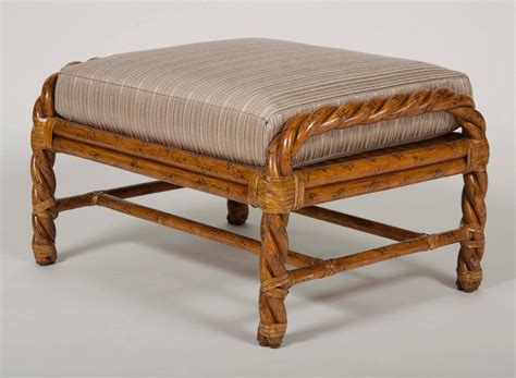 rattan chair and ottoman pair of rattan club chairs and ottoman by mcguire at 1stdibs