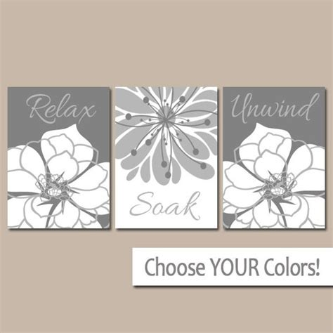 gray bathroom wall art canvas or prints bath decor bathroom