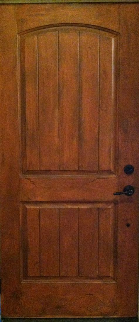 my front door interior brand new fiberglass door i used brown for a base coat brushed a