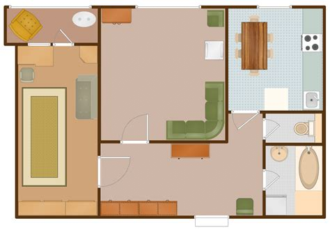 apartment design exles conceptdraw sles building plans floor plans