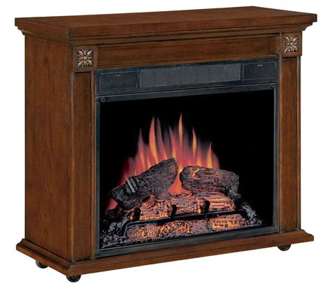 arthur cherry amish style roll away electric fireplace