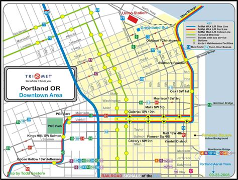 trimet max map portland or transit guide max light rail downtown