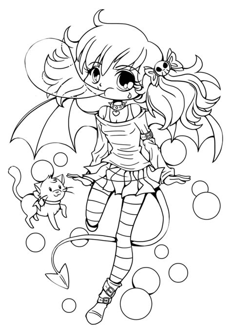 coloring pages of chibi chibi anime coloring pages coloring home