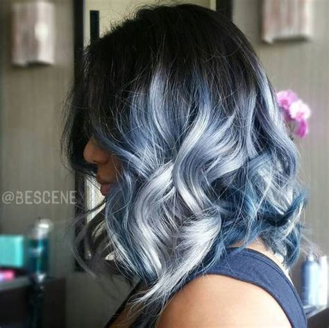 is ombre blue hair ok for older women colore capelli colpi di luce blu trend capelli