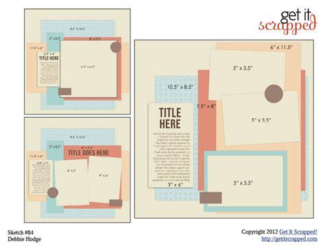 scrapbook page sketch and template bundle 84