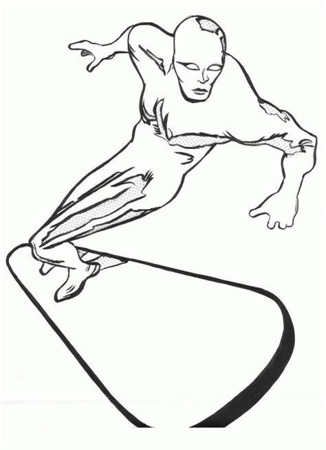 surfer coloring pages silver surfer coloring pages az coloring pages