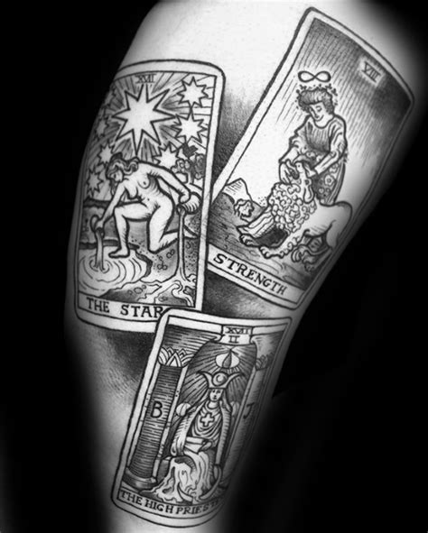 tarot card tattoo 60 tarot designs for card ink ideas