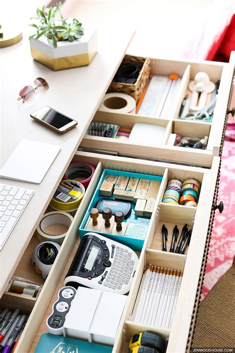 Easy Diy Drawer Divider Organizers Desk Organization