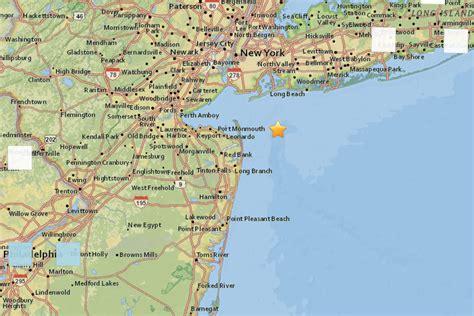 earthquake nj small earthquake recorded off new jersey coast felt in