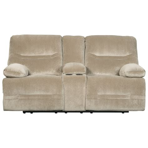 reclining loveseat w console signature design by ashley brayburn contemporary double