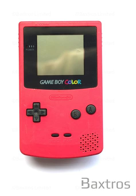 gameboy color nintendo boy color held console baxtros