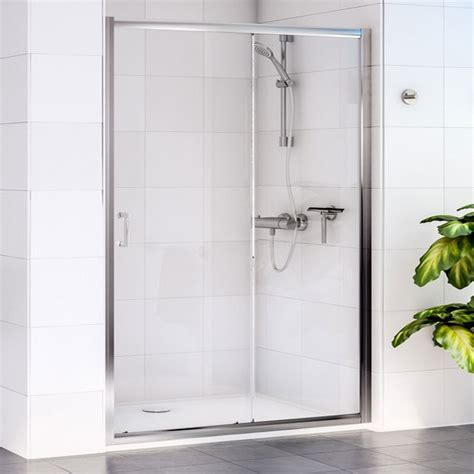 Aqualux Shower Doors Aqualux Shine Sliding Shower Door 1160420 1000mm Polished Clear