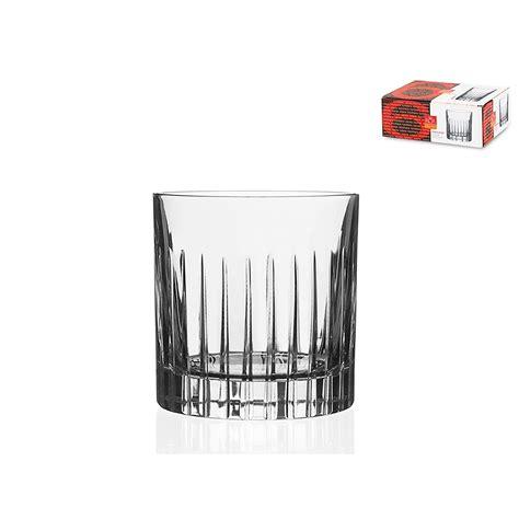 bicchieri di cristallo rcr set bicchieri 6 pezzi timeless acqua liquore vetro