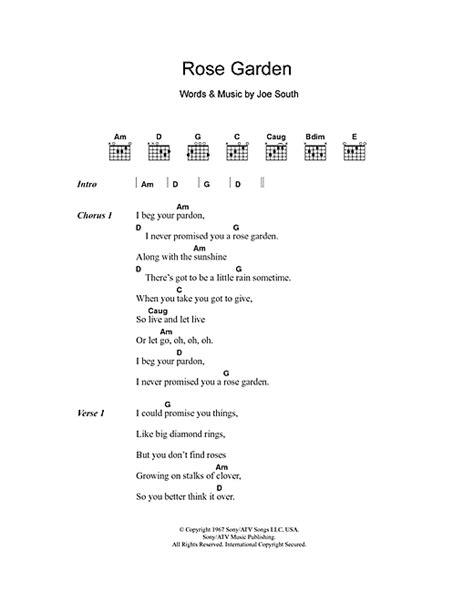 Gardening At Chords Garden Sheet By Lyrics Chords
