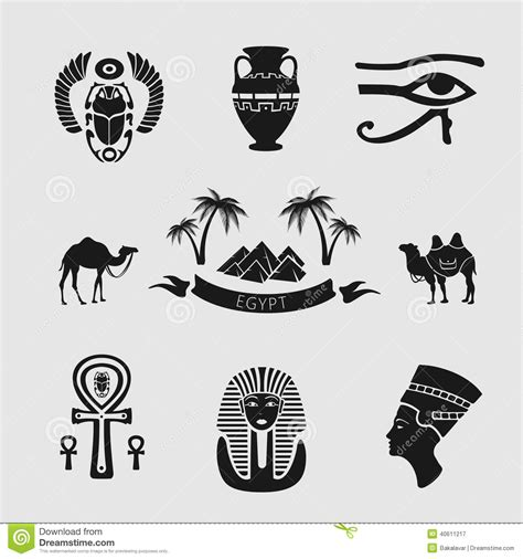 imagenes con simbolos groseros sistema de los s 237 mbolos egipto ilustraci 243 n del vector