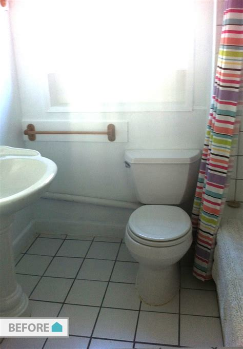 how big is the average bathroom before and after an average bathroom becomes
