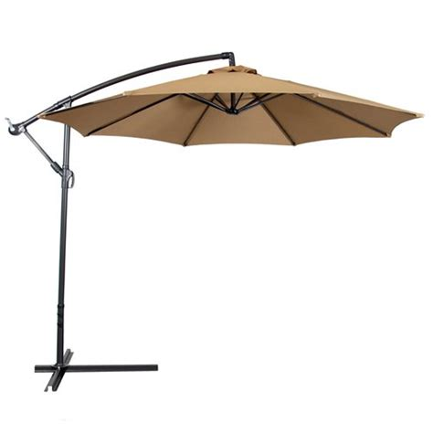 Patio Offset Umbrellas Deluxe 10 Offset Patio Umbrella Set Outdoor
