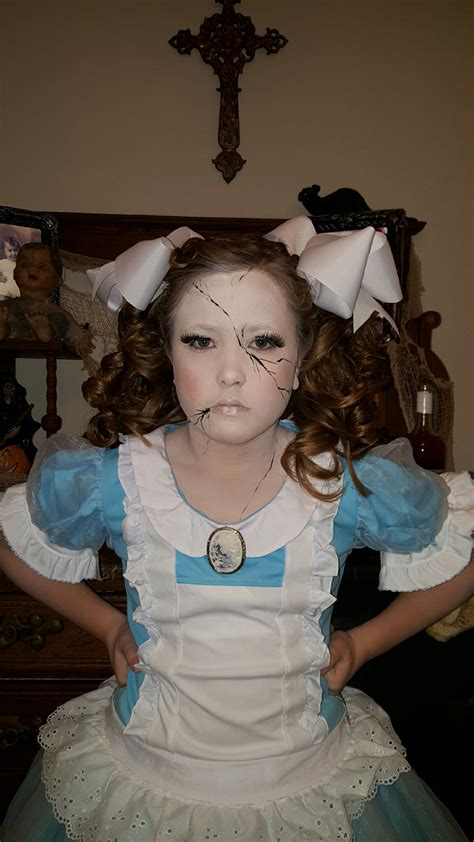 broken doll costume diy broken porcelain doll costume